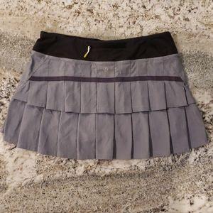 Lululemon Pace Setter Skort Skirt Herringbone 6